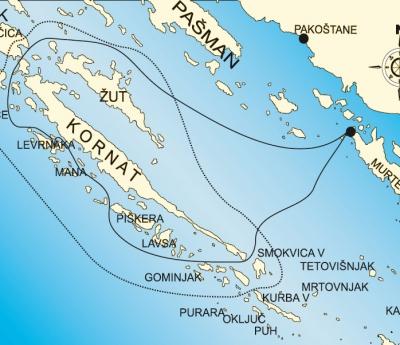 Excursion in NP Kornati with Re di Mare or  O.Bozidar