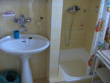 Toilet with shower in Room nr. 1: